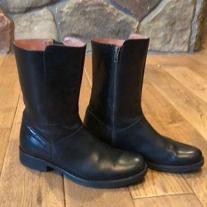 J. Crew black leather boots